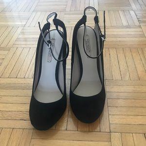 Zara Velvet Ankle Strap Heels